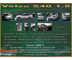 Volvo S40 1.8 prodajem ili menjam