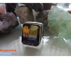 prsten boje AMETRIN antika