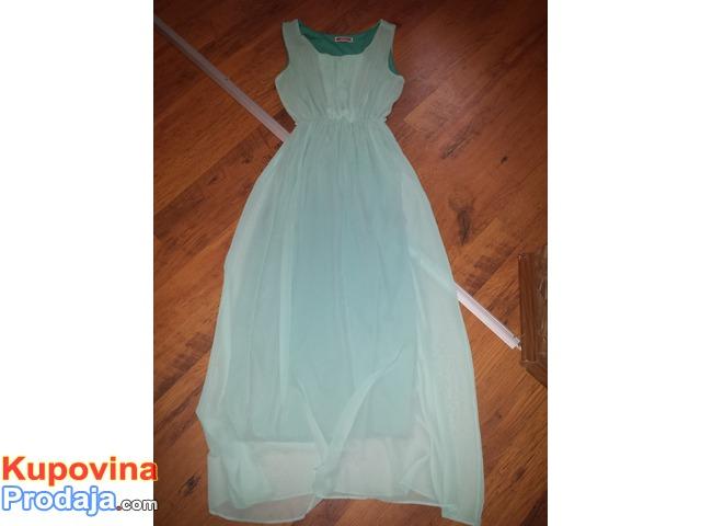 haljina tirkiznoplava