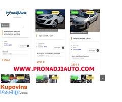 Besplatno oglašavanje vozila na portalu www.pronadjiauto.com