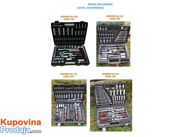 veliki izbor alata i gedora