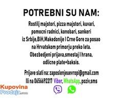Potrebni ugostiteljski radnici za rad u Hrvatskoj