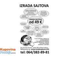 Izrada sajta,domen,hosting,marketing...