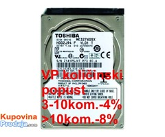 "HDD 2.5"", 320GB, TOSHIBA 5400RPM 8MB SATA 9,5mm."