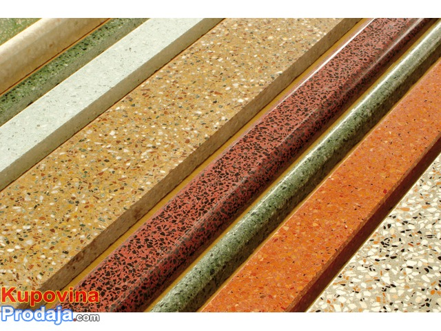 Liveni teraco kamen, brusenje teraco podova i stepenista, brusenje cigle, prani kulir
