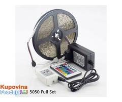 RGB led traka - 5m 5050 vodootporna