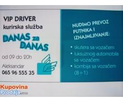 Prevoz putnika i robe, iznajmljivanje vozila