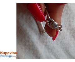 srebrni muski lanac i narukvica