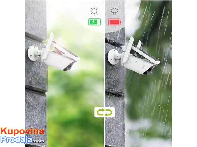 Spoljna ip WiFi bežična kamera sa solarnim napajanjem