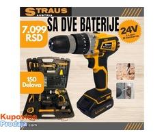 Straus Austria Aku bušilica 24V + 150 delova