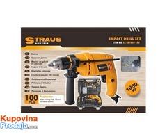 STRAUS 100 komada 1050W udarna bušilica ST/ID1050-100