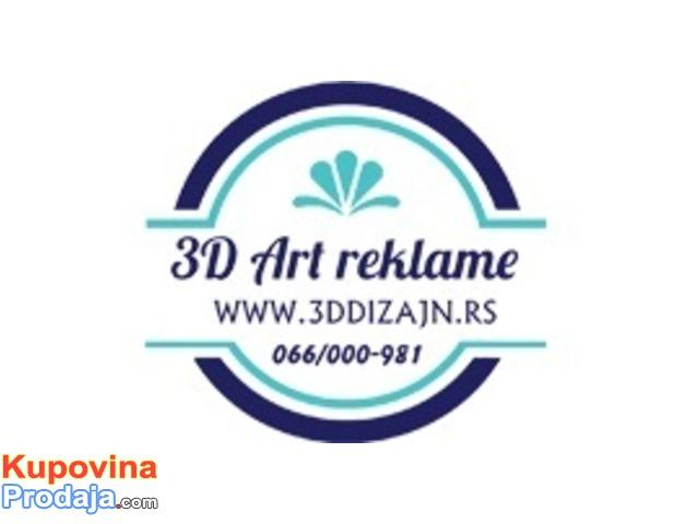 IZRADA 3D SVETLECE REKLAME 3D