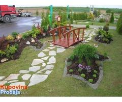 Uredjivanje dvorista -sadnja-kosenje-orezivanje