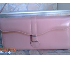 Nova Monina roza kozna torba