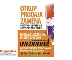 Otkup prodaja i zamena polovnih udžbenika za sve srednje škole!